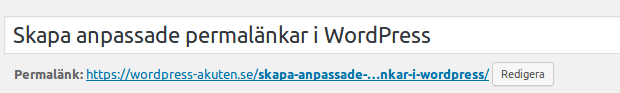 permalänk för post i WordPress